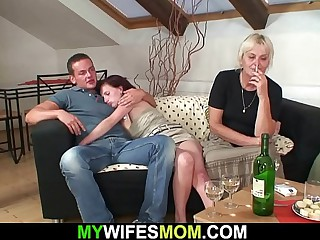 He bangs her superannuated hairy cunt from in dire straits