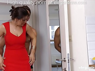 Cheating brunette MILF is fucked in the morning by their way lover