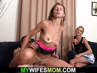 Small tits old mother