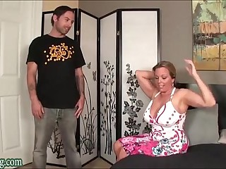 Old crumpet Fucking not his Mom Huge Tits Milf