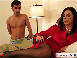 Stockinged mom Kendra Yearn for take cock