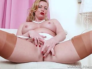 Perverted blond mother i'd like wide fuck fingers moist fur pie in output nylon heels